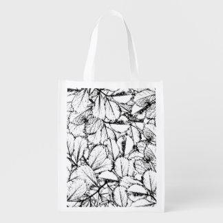 Sacola Ecológica Folhas do branco