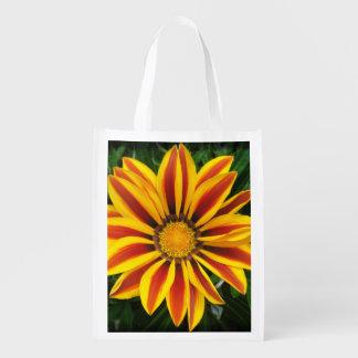 Sacola Ecológica Foto alaranjada bonita da flor de Sun