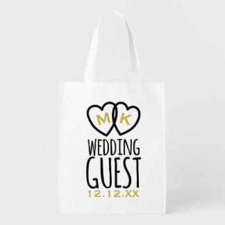 Sacola Ecológica Ganhos modernos do convidado do casamento