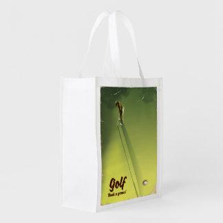 """Sacola Ecológica Golfe """"livro poster vintage de um jogo"""""""