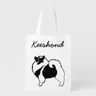 Sacola Ecológica Gráficos do Keeshond