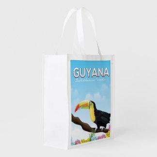 Sacola Ecológica Guyana sul - poster de viagens americano do