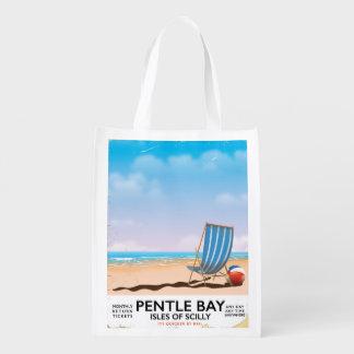 Sacola Ecológica Ilhas da baía de Pentle do poster de viagens de