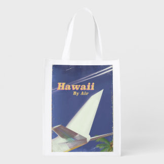 Sacola Ecológica Impressão das férias do vintage do vôo de Havaí