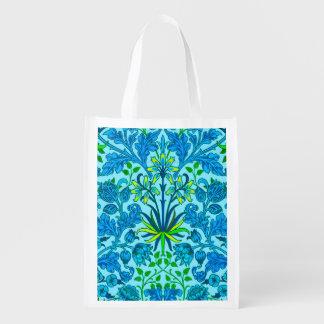 Sacola Ecológica Impressão do jacinto de William Morris, azul