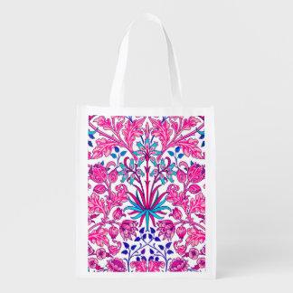 Sacola Ecológica Impressão do jacinto de William Morris, rosa do
