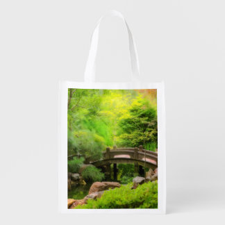 Sacola Ecológica Jardim japonês - água sob a ponte