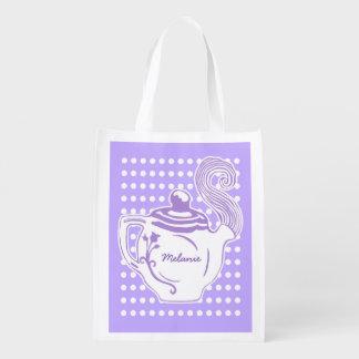 Sacola Ecológica Lilac feito sob encomenda do bule & saco reusável