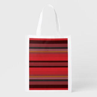 Sacola Ecológica Listras - horizonte vermelho