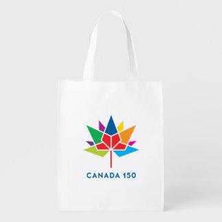 Sacola Ecológica Logotipo do oficial de Canadá 150 - multicolorido