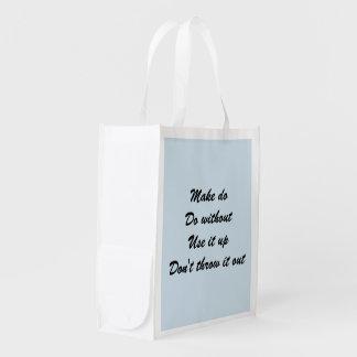 Sacola Ecológica Make azul faz o saco reusável