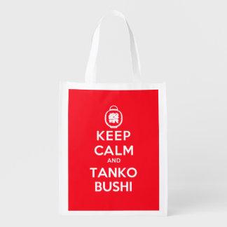 Sacola Ecológica Mantenha a calma e o Tanko Bushi (unilateral)