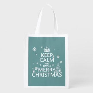 Sacola Ecológica Mantenha a calma e tenha o Feliz Natal