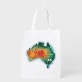 Sacola Ecológica Mapa de Austrália