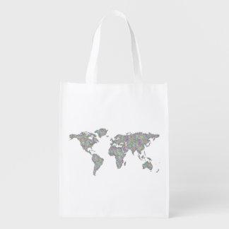 Sacola Ecológica Mapa do mundo