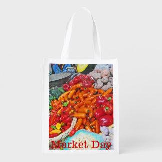 Sacola Ecológica Mercado orgânico - céu de Foodie - pimentões &