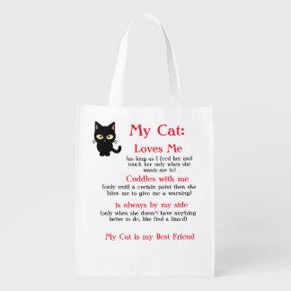 Sacola Ecológica Meu saco reusável do gato