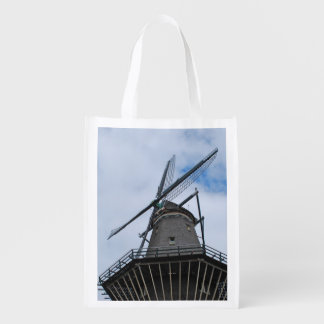 Sacola Ecológica Moinho de vento de Amsterdão com céu azul