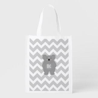 Sacola Ecológica Monograma bonito do urso de Koala do bebê de