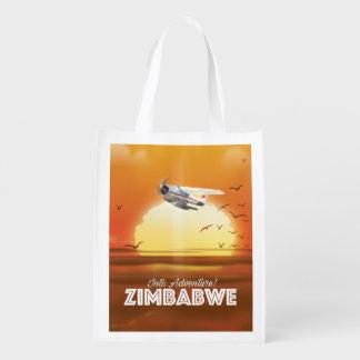 Sacola Ecológica Na aventura! Poster de viagens de Zimbabwe