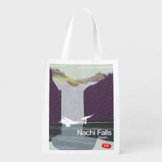 Sacola Ecológica Nachi cai poster de viagens do estilo do vintage