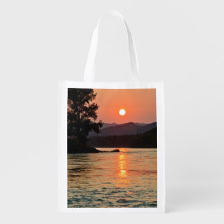 Sacola Ecológica Nascer do sol sobre o rio de Katun