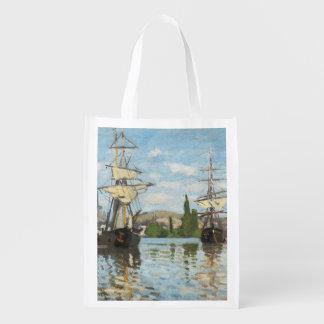 Sacola Ecológica Navios de Claude Monet | que montam no Seine em
