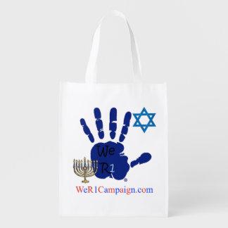 Sacola Ecológica Nós saco de compras R1 reusável judaico