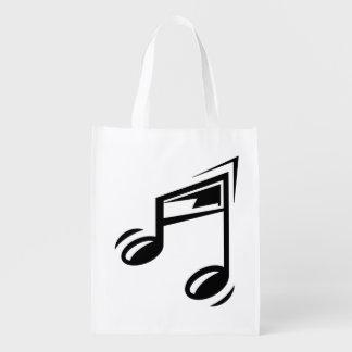 Sacola Ecológica Notas musicais do saco reusável