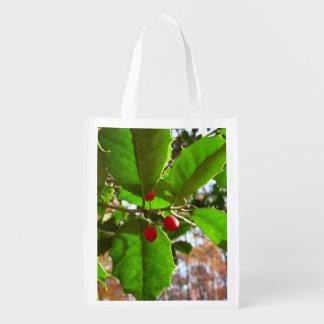 Sacola Ecológica O azevinho sae da natureza do feriado II botânica