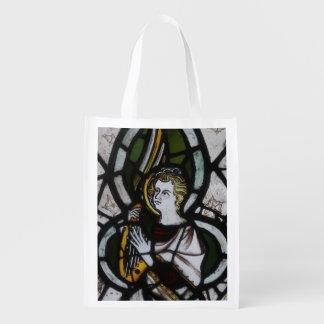 Sacola Ecológica O bolsa reusável do anjo do vitral