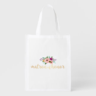 Sacola Ecológica O bolsa reusável - matrona floral do bolsa do