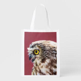 Sacola Ecológica O norte Serra-Whet o retrato da coruja