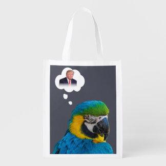 Sacola Ecológica O papagaio pensa da nuvem preta do índigo do