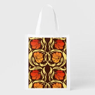 Sacola Ecológica O Pimpernel de William Morris, oxida laranja e