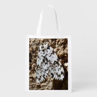 Sacola Ecológica O preto arqueia o saco reusável da traça