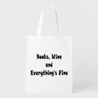 Sacola Ecológica O vinho dos livros tudo é muito bem saco reusável
