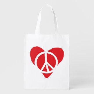 Sacola Ecológica Paz e amor