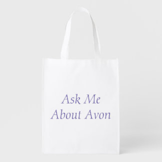 Sacola Ecológica Pergunte-me sobre o saco de Avon