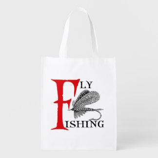 Sacola Ecológica Pesca com mosca com atração da pesca