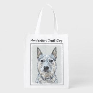 Sacola Ecológica Pintura australiana do cão do gado - arte original