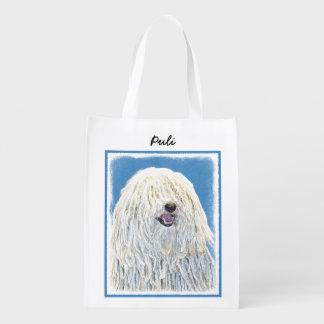 Sacola Ecológica Pintura de Puli - arte original bonito do cão