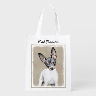 Sacola Ecológica Pintura de Terrier de rato - arte original bonito