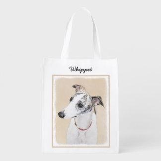 Sacola Ecológica Pintura de Whippet - arte original bonito do cão
