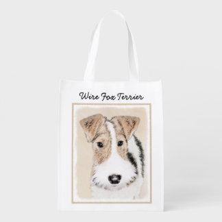 Sacola Ecológica Pintura do Fox Terrier do fio - arte original