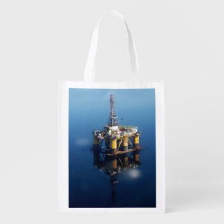 Sacola Ecológica Plataforma da plataforma petrolífera fora da foto