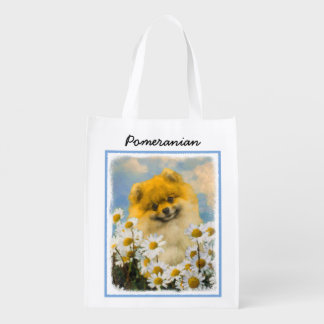 Sacola Ecológica Pomeranian nas margaridas