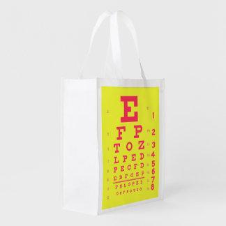 Sacola Ecológica Pop art da carta de olho da acuidade visual da