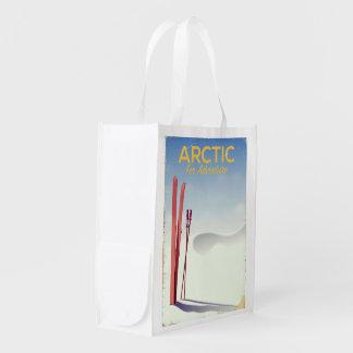 Sacola Ecológica Poster ártico da exploração da aventura do vintage