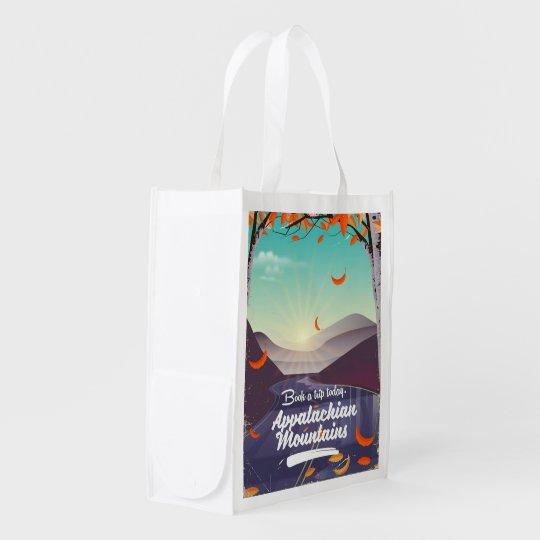 Sacola Ecológica Poster das viagens vintage das montanhas apalaches